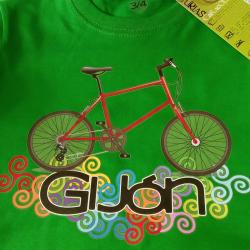 Camiseta niño - bicicleta...