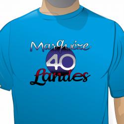 T-shirt homme - 40 Landes -...