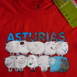 Camiseta niño - ovejas en...