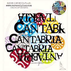 Pegatina estelas Cantabria