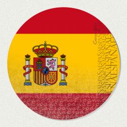 Imán de madera bandera España