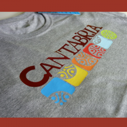 T-shirt man - Cantabria colors