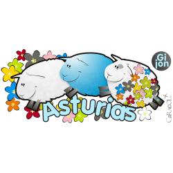 Taza ovejitas Asturias -...