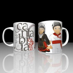 Mug with cantabrian children