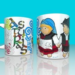 Mug Asturian kids