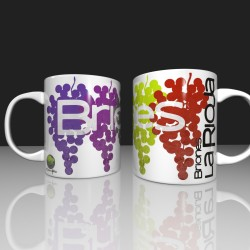 Mug with colorful grapes -...