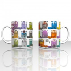 Mug colorful cats