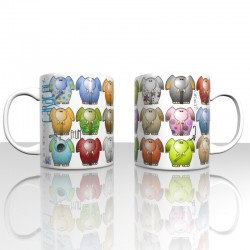 Mug colorful elefants