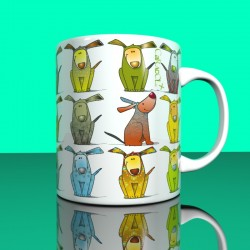 Mug colorful dogs