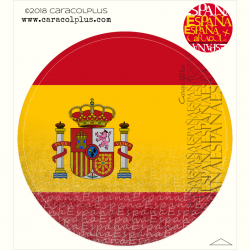 Sticker Spanish flag