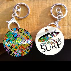 Porte-clé surf - Pays Basque