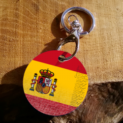 keychain Spanish flag