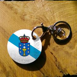 Llavero bandera de Galicia