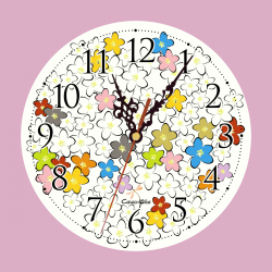 Clock Apple Blossoms