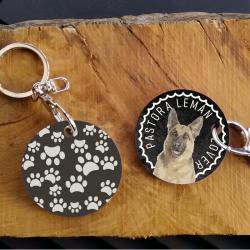 German Sheperd Lover Keychain